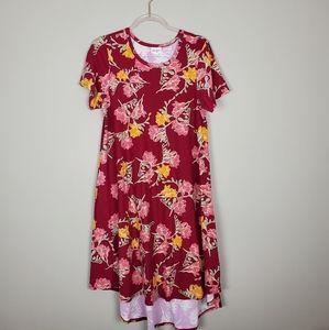 LuLaRoe Red Carly High-Low Dress Sz S
